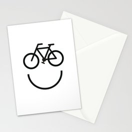 Bike face, bicycle smiley Stationery Cards