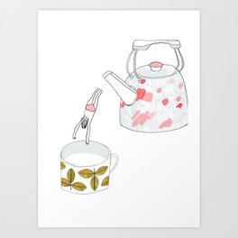 A nice hot bath, please Art Print