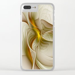 Abstract With Colors Of Precious Metals, Fractal Art Clear iPhone Case