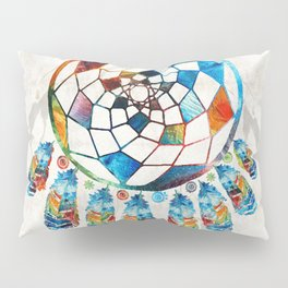 Native American Colorful Dream Catcher by Sharon Cummings Pillow Sham