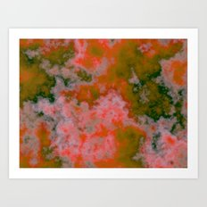 Peach and Green Art Print