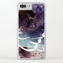 Complicated Feelings Abstract ART Clear iPhone Case