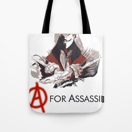 A for Assassin Tote Bag