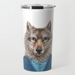 W is for a Wolf in a Waistcoat Travel Mug