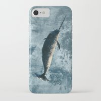 biology iPhone & iPod Cases featuring Jackson the Narwhal by Amber Marine