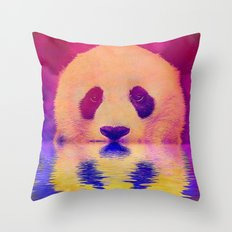 Pink Panda Throw Pillow
