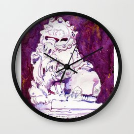 20161203c Stone Lion at Chinese Chamber Commerce Wall Clock