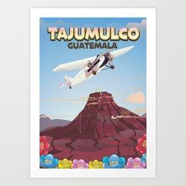 Tajumulco Guatemala volcano poster Art Print