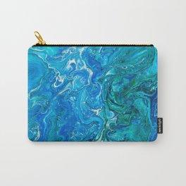 Elegant Crazy Lace Agate 2 - Blue Aqua Carry-All Pouch