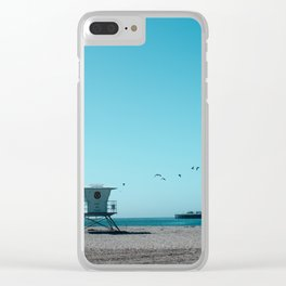 Birds and lifeguard Clear iPhone Case