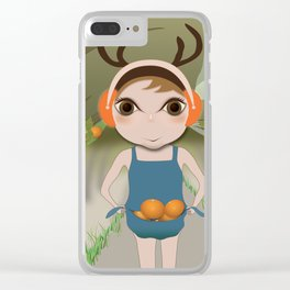 Deery Fairy and Oranges Clear iPhone Case