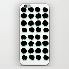 Abstract painted Dots minimal black and white iPhone & iPod Skin
