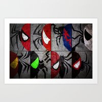 verse Art Prints featuring Spider-Verse by JordanJBDesigns