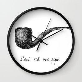 LA TRAHISON DES IMAGES Wall Clock