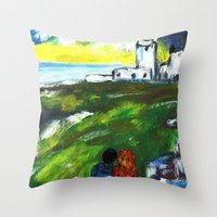 lighthouse Throw Pillows featuring lighthouse by Nastya Bo