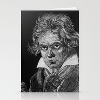 beethoven Stationery Cards featuring Beethoven by Sean Villegas