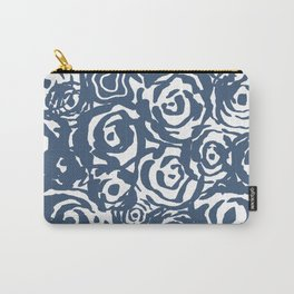 Navy Flower Bundle Carry-All Pouch