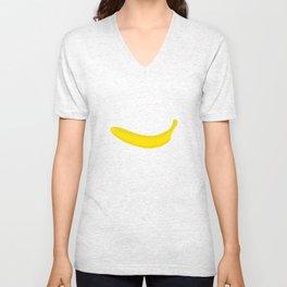 Banana print Unisex V-Neck