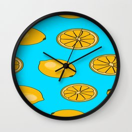Lemon fruit pattern Wall Clock