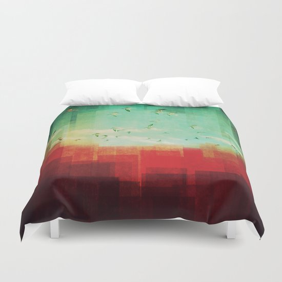 Summer City Duvet Cover