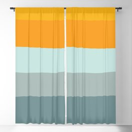 Zen Ocean Stripes Blackout Curtain