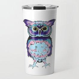 Small Scrappy Owl Travel Mug