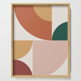 Abstract Geometric 13 Serving Tray