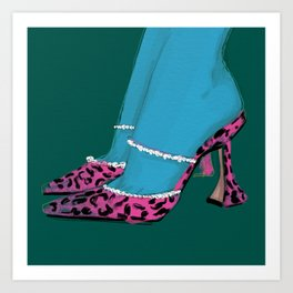 Leopard Heels Art Print