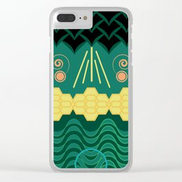 Rainforest HARMONY pattern Clear iPhone Case