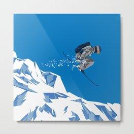 Ski Jump Metal Print