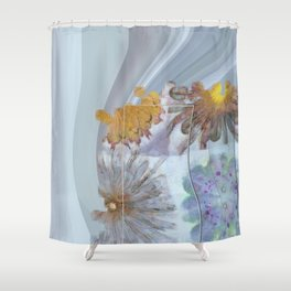 Unsuitably Unveiled Flower  ID:16165-120704-85951 Shower Curtain