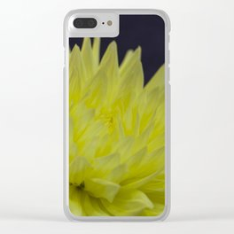 Yellow Dahlia Clear iPhone Case