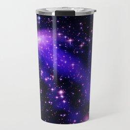 GAlaxy Purple Hot Pink Stars Travel Mug