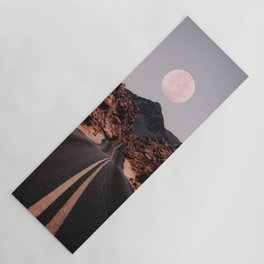 Road Red Moon Yoga Mat