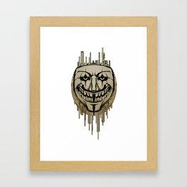 Anonymous fear Framed Art Print