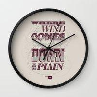 Sweepin' Down The Plain Wall Clock