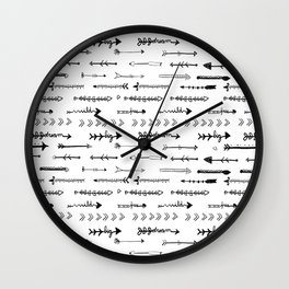 Follow  your own path arrows Wall Clock
