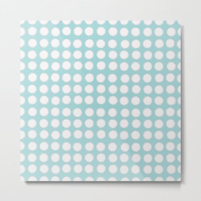 milk glass polka dots Metal Print