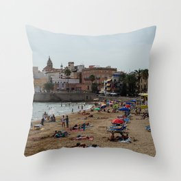 Spanish Beach Throw Pillow