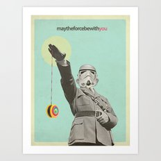 may the force be with you Art Print