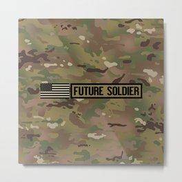 Future Soldier (Camo) Metal Print