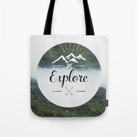 explore Tote Bags featuring Explore by Quellasenzanick