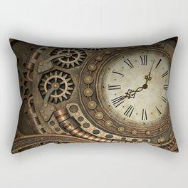 Steampunk Clockwork Rectangular Pillow