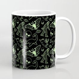 Cryptid Pattern: Green Lines Coffee Mug