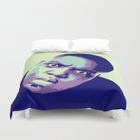 biggie smalls Duvet Covers featuring Biggie by victorygarlic - Niki