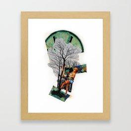 Rape of Aurora   Collage Framed Art Print