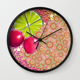 Candied Fruities, Flowered Cooties Wall Clock