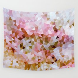 Design 108 Pink Brown Mosaic Wall Tapestry