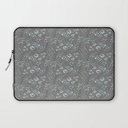 Silver Flowers Laptop Sleeve
