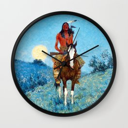 Frederic Sackrider Remington The Outlier Wall Clock